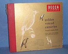 78 RPM Golden Voiced Canaries, Provol's Golden Birds