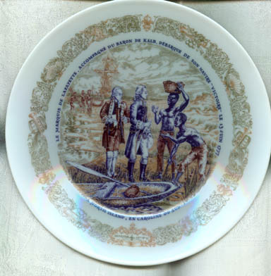 D'Arceau-Limoges Lafayette Legacy Collection Plate II Layayette Disembarks from His Ship