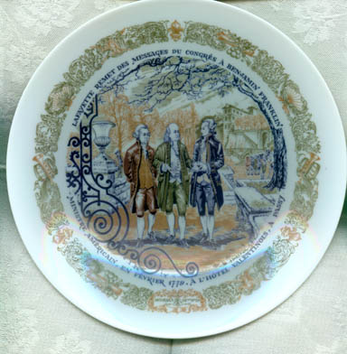 D'Arceau-Limoges Lafayette Legacy Collection Plate V Lafayette Remits Messages from Congress to Benjamin Franklin