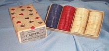 Stackwell 1.5 inch Harvite Poker Chips in box