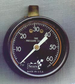 Sears round tire pressure gauge