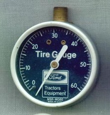 Ford Tractors Equipment round tire pressure gauge