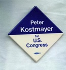 Peter Kostmayer for Congress (Bucks County, PA) campaign button