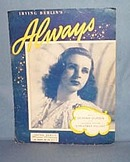 Irving Berlin's Always sheet music