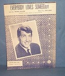 Everybody Loves Somebody sheet music by Dean Martin