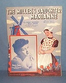 The Miller's Daughter Marianne sheet music