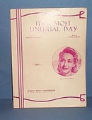 It's A Most Unusual Day sheet music