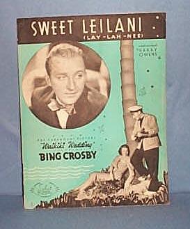 Sweet Leilani sheet music by Bing Crosby