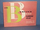 Irving Berlin's Best with Words for the Hammond Organ Number 1 music folio