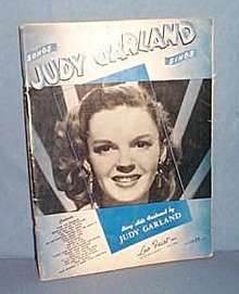 Songs Judy Garland Sings music book