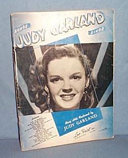 Songs Judy Garland Sings music book