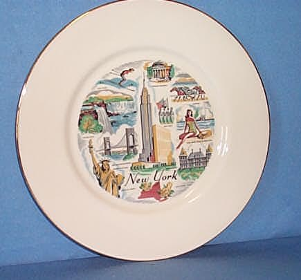 Royal Hostess New York Souvenir plate