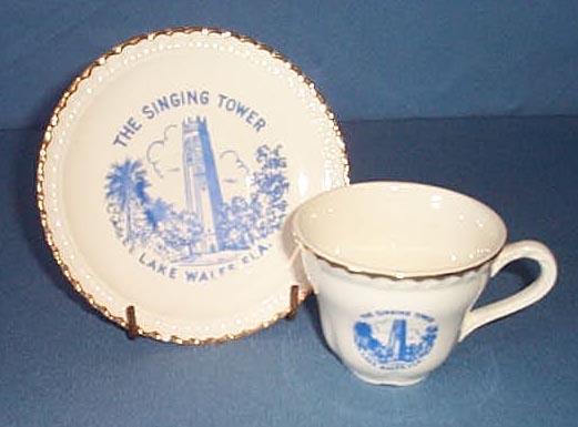 The Singing Tower, Lake Wales FL cup and saucer