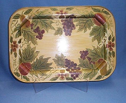 Hand-painted Pennsylvania Dutch folk art tole tray