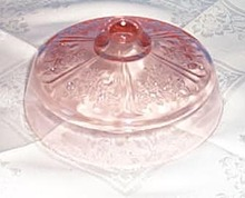 Sharon pink depression glass butter dish lid