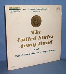 33 RPM LP The National Cultural Center presents The United States Army Band and the United States Army Chorus