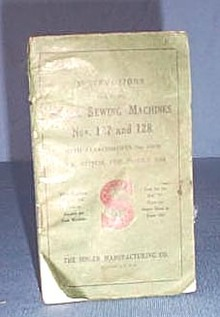 Instructions for Using Singer Sewing Machines Nos. 127 and 128