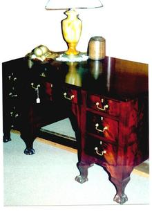 Clawfoot mahogany partner's desk