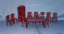 1950s doll house 13 piece dining room suite