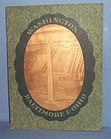 Washington Baltimore & Ohio Railroad Washington DC  visitor's guide