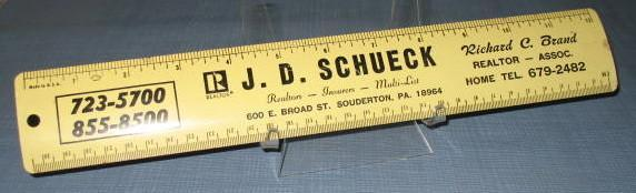 J. D. Schueck, Richard C. Brand, Realtor Souderton PA metal advertising rule