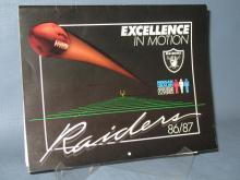 1986/1987 Oakland Raiders calendar