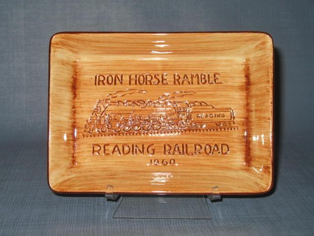 1960 Reading Railroad Iron Horse Ramble souvenir wall plaque from Pennsbury Pottery