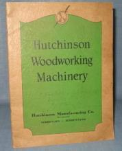 Hutchinson Woodworking Machinery (Norristown PA) equipment catalogue