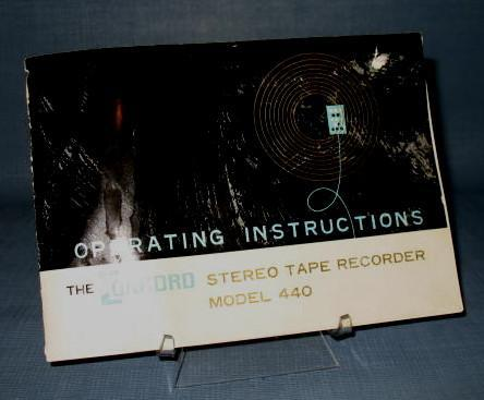 The Concord Stereo Tape Recorder Model 440 Operating Instructions booklet