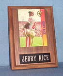 1993 Jerry Rice photo card placque
