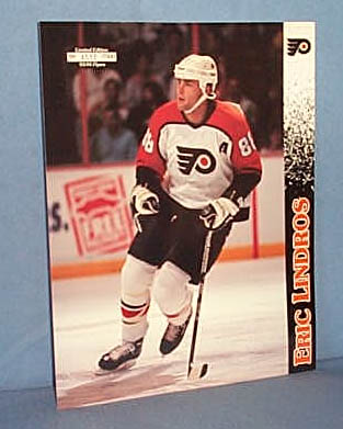 Limited Edition Souvenir Eric Lindros photo and Flyers/Capitals rosters