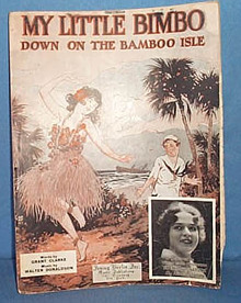 My Little Bimbo Down on the Bamboo Isle sheet music