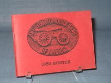 1950 Roster Antique Automobile Club of America
