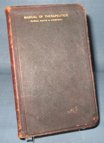 The Manual of Therapeutics from Parke, Davis & Company, copyright 1900