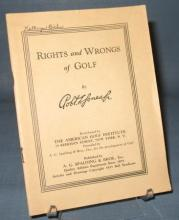 Rights and Wrongs of Golf by Robert Jones Jr.