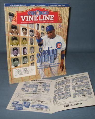 Chicago Cubs Vine line, March 2003
