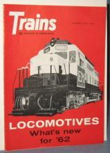 Trains : The Magazine of Railroading, January 1962