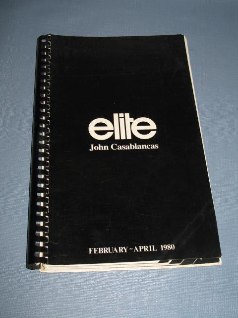Elite Models Book from John Casablancas, February-April 1980