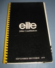 Elite Models Book from John Casablancas, September - December 1979