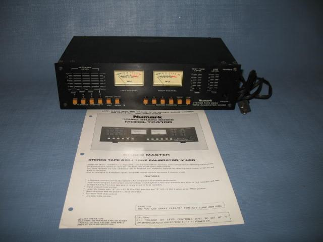 Numark TC4100 Stereo Tape Deck Tone Calibrator/Mixer