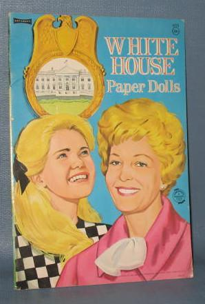 Artcraft White House Paper Dolls featuring the Nixon girls