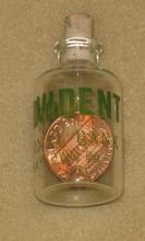 Provident National Bank, Quakertown PA penny in a bottle