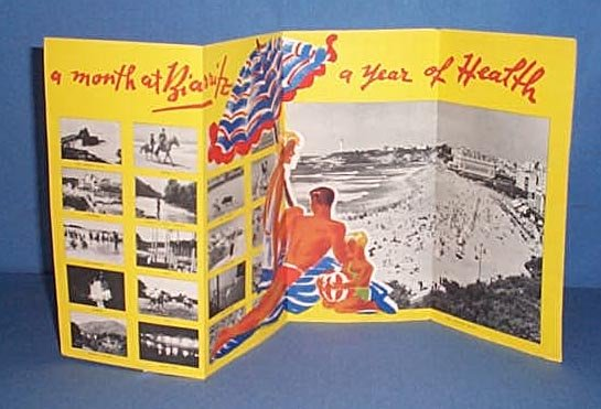 Biarritz advertising brochure