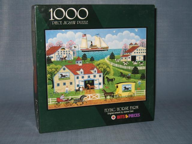 Bits & Pieces Flying Horse Farm 1000 piece jigsaw puzzle by Joanne Case