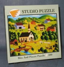 Bits & Pieces Church Picnic 500 piece jigsaw puzzle No. 01-5403-004