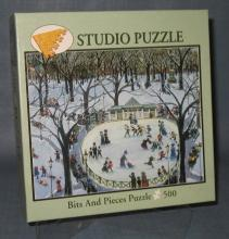 Bits & Pieces Frog Pond in Winter 500 piece jigsaw puzzle No. 01-0136-006