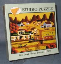 Bits & Pieces Train Depot 500 piece jigsaw puzzle No. 01-5403-001