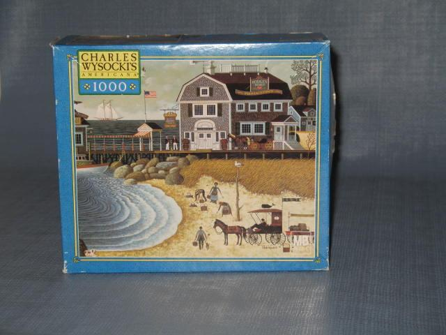 Hasbro Charle Wysocki's Americana Clammers and Hodge's Horn 1000 piece jigsaw puzzle No. 04679-5