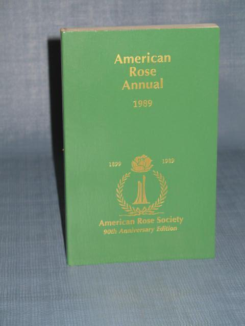 American Rose Annual, 1989 from the American Rose Society