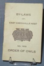 By-Laws of East Greenville (PA) Nest No. 1302 Order of Owls